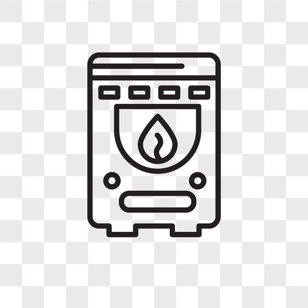 Boiler vector icon isolated on transparent background, Boiler logo concept