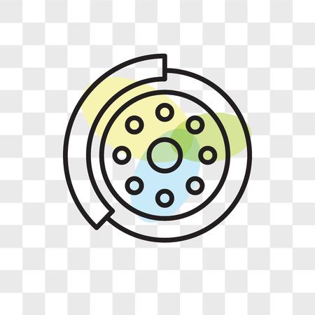 Brake disc vector icon isolated on transparent background, Brake disc logo concept