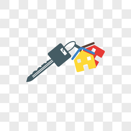 Key vector icon isolated on transparent background, Key logo concept Illusztráció