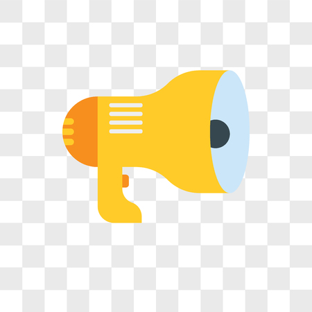 Icono de vector de megáfono aislado sobre fondo transparente, concepto de logo de megáfono