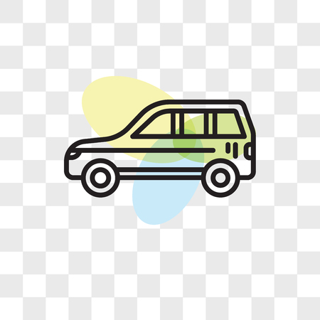 Car vector icon isolated on transparent background, Car logo concept