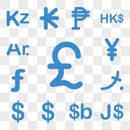 Set Of 13 transparent icons such as Lebanon currency, Jamaica Bolivia Bermuda Colombia Maldives web ui editable icon pack, transparency