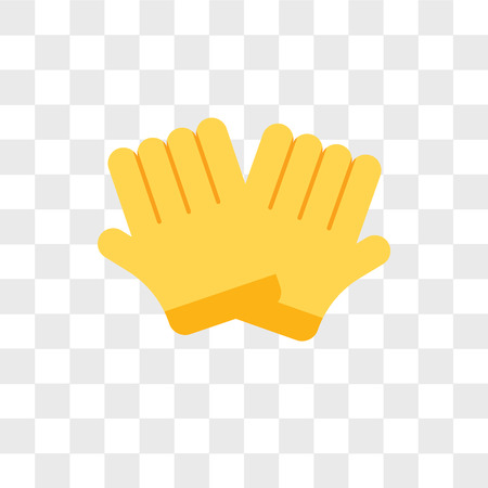 Gloves vector icon isolated on transparent background, Gloves logo concept Vettoriali