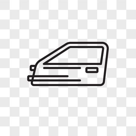 Icona di vettore di porta auto isolato su sfondo trasparente, concetto di marchio di porta auto Vettoriali