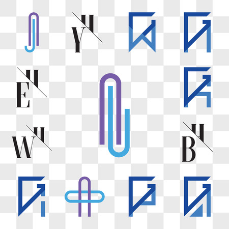 Set Of 13 transparent editable icons such as Al or lA Letter, GA, AG, GP, PG, AO OA GI, IG, BH, HB, WH, HW, GK, KG, EH, HE, web ui icon pack, transparency set