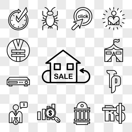 Set Of 13 transparent editable icons such as resale, saudi riyal, public sector, value proposition, cfo, tp, dvr, military base, rmb, web ui icon pack, transparency set