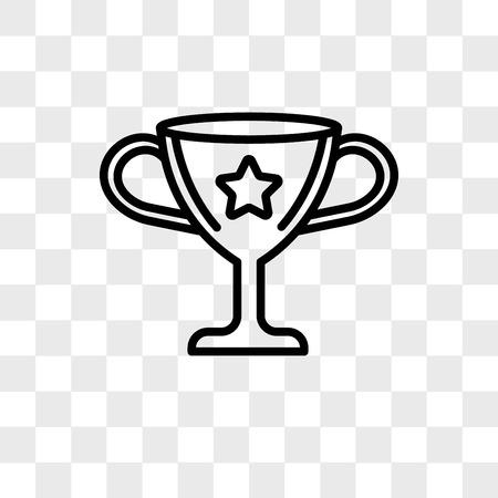 Icona di vettore vincente isolato su sfondo trasparente, concetto di marchio vincente Vettoriali