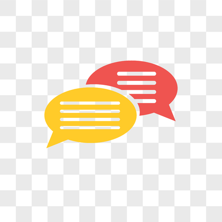 Chat vector icon isolated on transparent background, Chat logo concept
