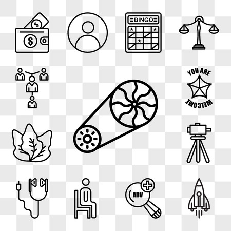 Set Of 13 transparent editable icons such as flywheel, stellar lumens, advanced search, sitting down, earbud, surveyor, kale, you are welcome, mentorship, web ui icon pack, transparency set