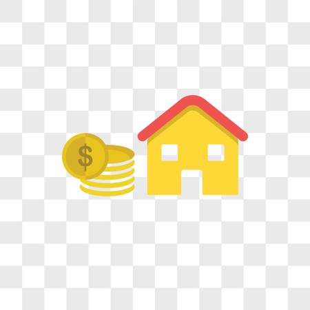 Hypothekenvektorikone lokalisiert auf transparentem Hintergrund, Hypothekenlogo-Konzept Logo