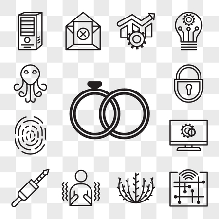 Set Of 13 transparent editable icons such as marital status, digitalisation, tumbleweed, shivering, 3.5 mm jack, itsm, fingerprint, lockout tagout, cthulhu, web ui icon pack, transparency set