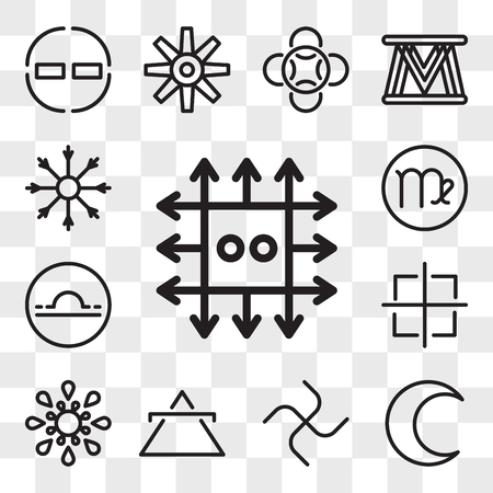 Set Of 13 transparent editable icons such as Zinc, Moon, Loyalty, Air, Inequality, Oil, Libra, Virgo, Salt, web ui icon pack, transparency set