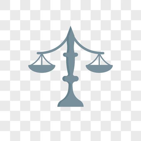 Balance vector icon isolated on transparent background, Balance logo concept Logo