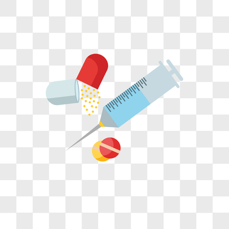 Icono de vector de drogas aislado sobre fondo transparente, concepto de logo de drogas