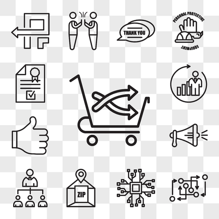 Set Of 13 transparent editable icons such as cross sell, methodology, bigdata, zip code, mlm, spread the word, thumbs up, b2c, company registration, web ui icon pack, transparency set