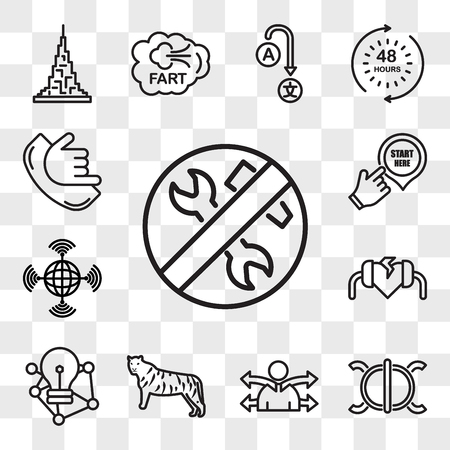Set Of 13 transparent icons such as low maintenance, perseverance, versatility, golden tiger, deep learning, defibrillator, wan, start here, web ui editable icon pack, transparency set