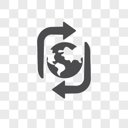 Sustainable vector icon isolated on transparent background, Sustainable logo concept Logó
