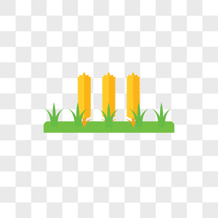 Wheat vector icon isolated on transparent background, Wheat logo concept