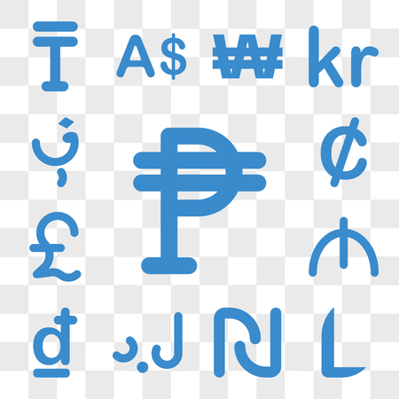 Set Of 13 transparent icons such as Cuba currency, Honduras Israel Libya Croatia Azerbaijan web ui editable icon pack, transparency