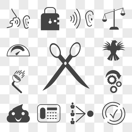 Set Of 13 transparent editable icons such as eliminate, compliant, third party, landline, bullshit, torque, pressure washing, griffin, mileage, web ui icon pack, transparency set