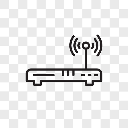 Wireless vector icon isolated on transparent background, Wireless logo concept Vectores