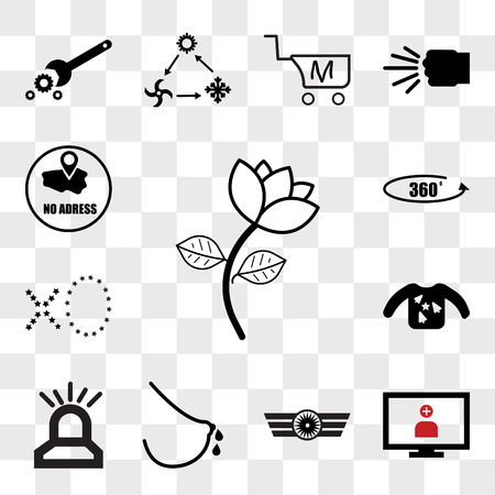 Set Of 13 transparent editable icons such as beauty parlour, telemedicine, Airforce, lactation, fire dept, ugly sweater, xo, 360 photo, no address, web ui icon pack, transparency set