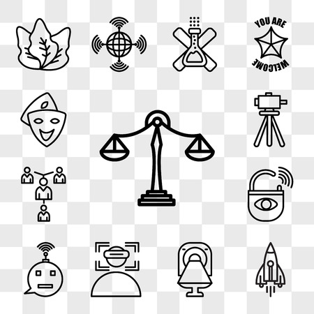 Set Of 13 transparent editable icons such as benchmarking, stellar lumens, ct, immersion, , anti theft, mentorship, surveyor, cosplay, web ui icon pack, transparency set Vector Illustration