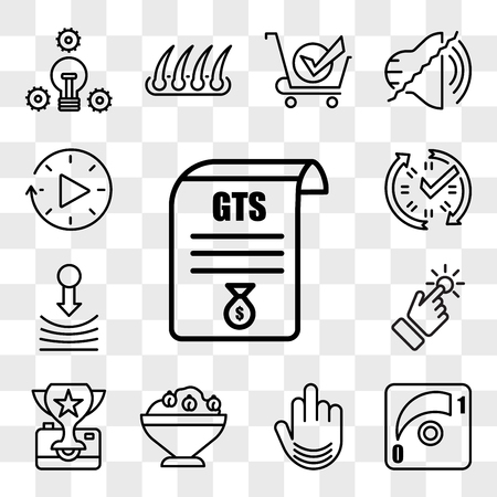 Set Of 13 transparent editable icons such as gst, dimmer, fuck you, hummus, photo contest, touchpoint, resilience, real time data, downtime, web ui icon pack, transparency set