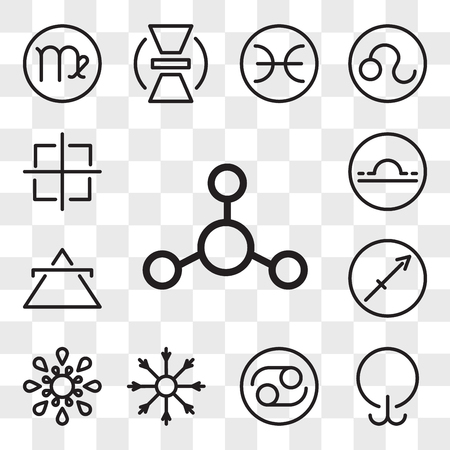 Set Of 13 transparent editable icons such as Silver, Lethargy, Cancer, Salt, Inequality, Sagittarius, Air, Libra, Oil, web ui icon pack, transparency set
