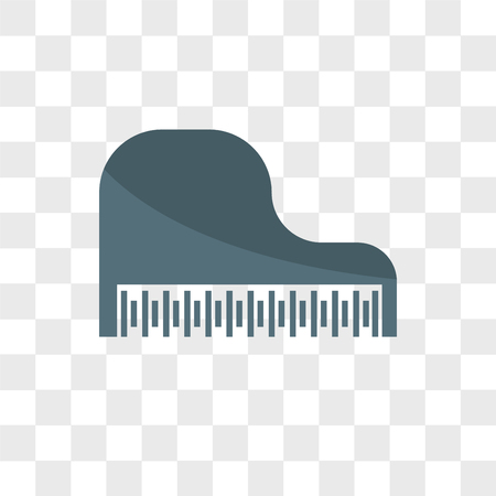 Piano vector icon isolated on transparent background, Piano logo concept