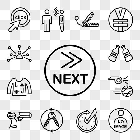Set Of 13 transparent icons such as what's next, photo not available, realtime, turnkey, broken gun, kickoff, ugly christmas sweater, coke bottle, web ui editable icon pack, transparency set