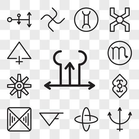 Ensemble de 13 icônes modifiables transparentes telles que Tartare, Neptune, Hypocrisie, Aqua, Fortitude, Divinité, Artisanat, Scorpion, Soufre, pack d'icônes de l'interface utilisateur Web, jeu de transparence