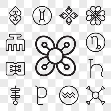 Set Of 13 transparent editable icons such as Abundance, Understanding, Aquarius, Pluto, Strength, Uranus, Friendship, Capricorn, Beauty, web ui icon pack, transparency set