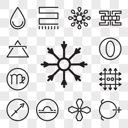 Set Of 13 transparent editable icons such as Salt, Soot, Libra, Sagittarius, Zinc, Virgo, Greatness, Air, web ui icon pack, transparency set