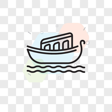 Venice vector icon isolated on transparent background, Venice logo concept