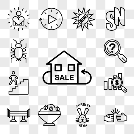 Set Of 13 transparent icons such as resale, rock paper scissors, cruelty free, hummus, spoiler, value proposition, stairwell, problem statement, web ui editable icon pack, transparency set