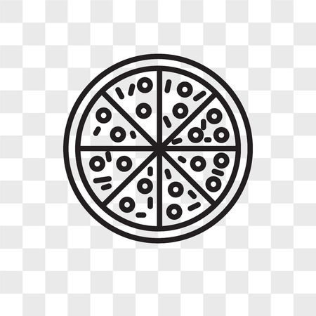 Pizza vector icon isolated on transparent background, Pizza logo concept Illustration