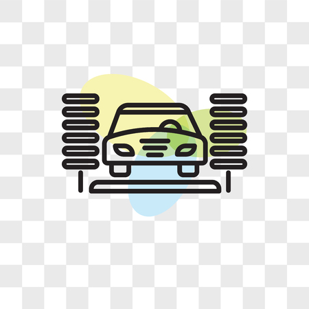 Car wash vector icon isolated on transparent background, Car wash logo concept