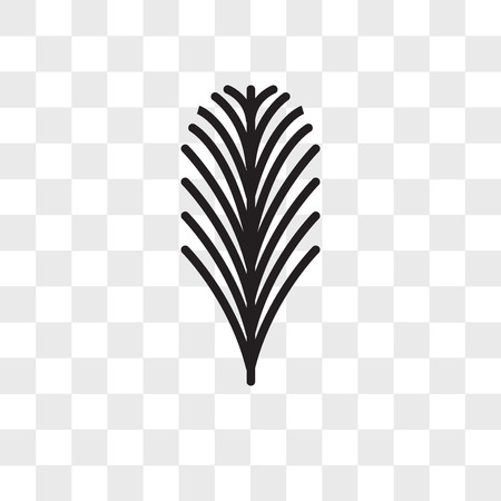 Yew leaf vector icon isolated on transparent background, Yew leaf logo concept Logo