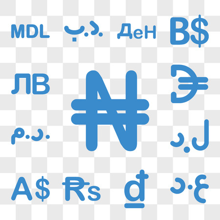 Set Of 13 transparent icons such as Nigeria currency, Iraq Croatia Sri Lanka Currency Libya web ui editable icon pack, transparency