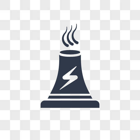 Power plant vector icon isolated on transparent background, Power plant logo concept