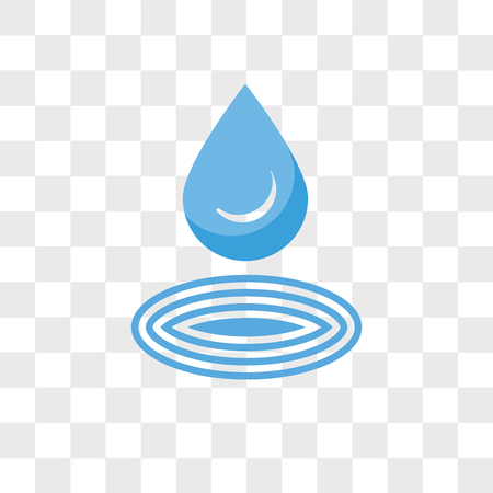 Water drop vector icon isolated on transparent background, Water drop logo concept