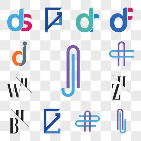 Set Of 13 transparent editable icons such as Aj or jA Letter, Al lA AZ ZA GL, LG, BH, HB, ZH, HZ, WH, HW, AC CA dj, jd, web ui icon pack, transparency set