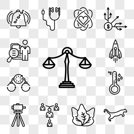 Set Of 13 transparent editable icons such as benchmarking, cougar, kale, mentorship, surveyor, temperature sensor, bail, stellar lumens, job fair, web ui icon pack, transparency set