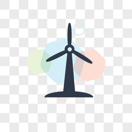 Wind mill vector icon isolated on transparent background, Wind mill logo concept