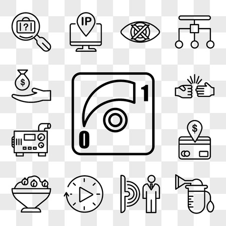 Set Of 13 transparent icons such as dimmer, breast pump, motion sensor, downtime, hummus, direct debit, diesel generator, rock paper scissors, web ui editable icon pack, transparency set