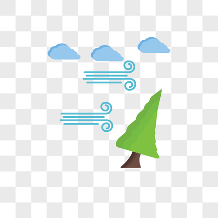 Pine vector icon isolated on transparent background, Pine logo concept