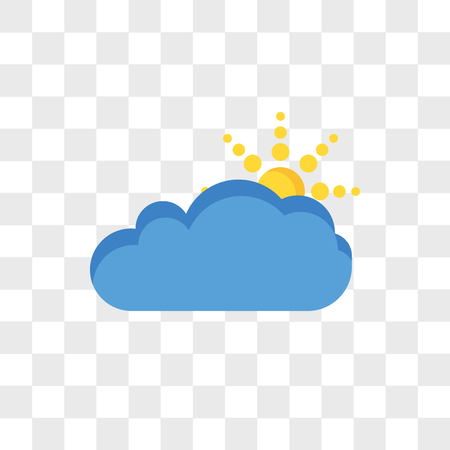 Cloudy vector icon isolated on transparent background, Cloudy logo concept