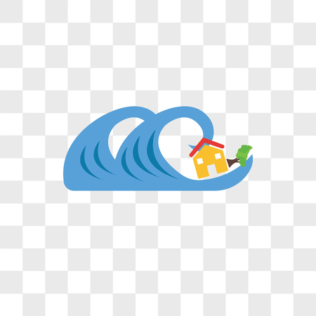 Tsunami vector icon isolated on transparent background, Tsunami logo concept