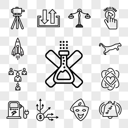 Set Of 13 transparent icons such as no preservatives, ringtone, cosplay, diversification, ev charging, core value, mentorship, cougar, web ui editable icon pack, transparency set